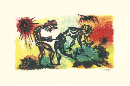 Литография Lurcat - Combat