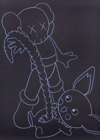 Сериграфия Kaws - Companion vs. Pikachu