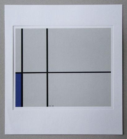 Сериграфия Mondrian - Compositie met blauw - 1938