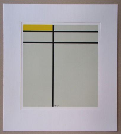 Сериграфия Mondrian - Compositie met geel - 1935