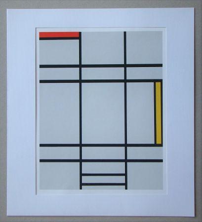 Сериграфия Mondrian - Compositie met rood en geel - 1935