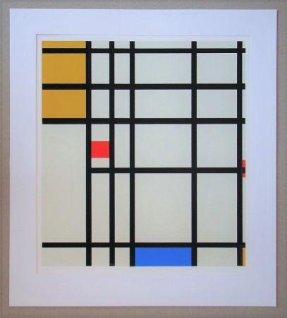 Сериграфия Mondrian - Compositie met rood, geel en blauw - 1936/43