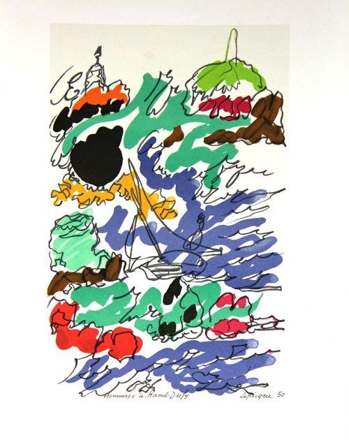Литография Lapicque - Composition