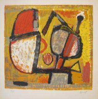 Литография Doucet - Composition