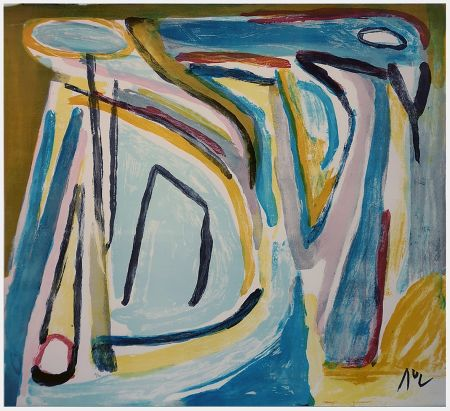 Литография Van Velde - Composition