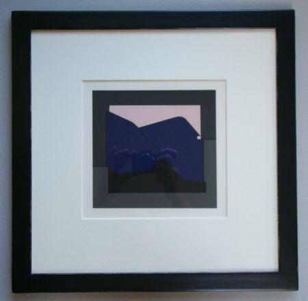 Сериграфия Vasarely - Composition - Geh durch den Spiegel