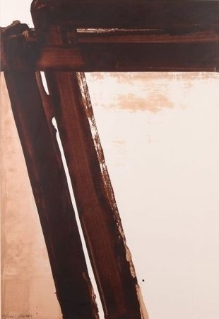 Сериграфия Soulages - Composition 15