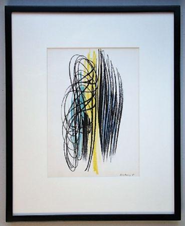 Литография Hartung - Composition 1958