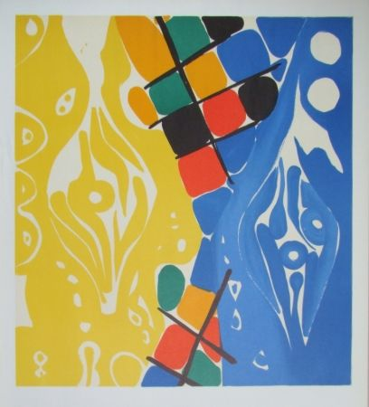 Литография Nay - Composition 1966-1