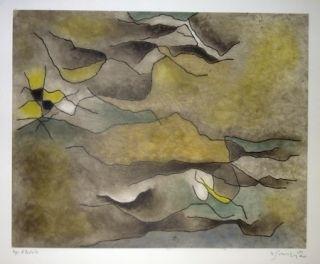 Офорт И Аквитанта Singier - Composition abstraite