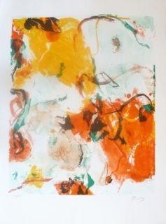 Литография En Jong - Composition Abstraite