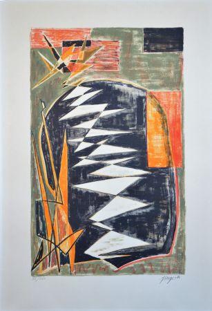 Литография Deyrolle - Composition abstraite