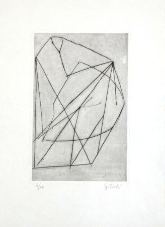 Гравюра Gilioli - Composition Abstraite