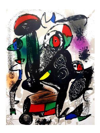Литография Miró - Composition Abstraite