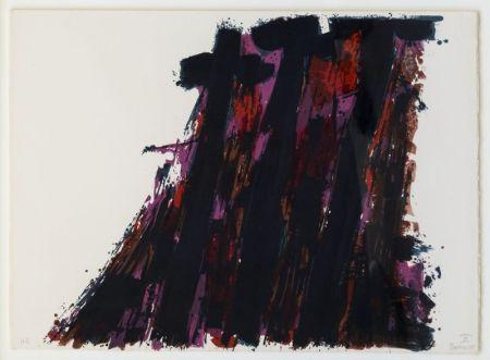 Литография Manessier - Composition abstraite