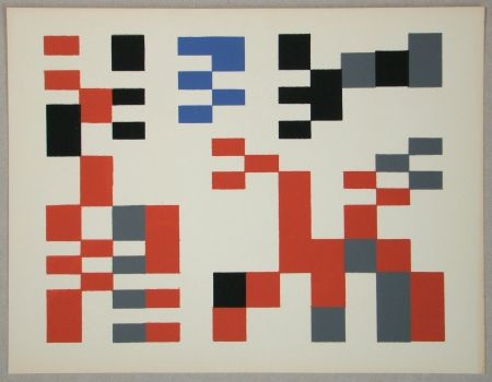 Сериграфия Taeuber-Arp - Composition Aubette - Relief 1927