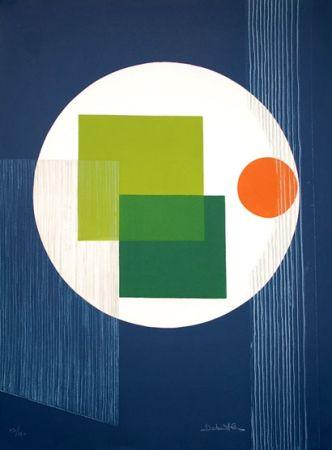 Офорт Debutler - Composition Bleu