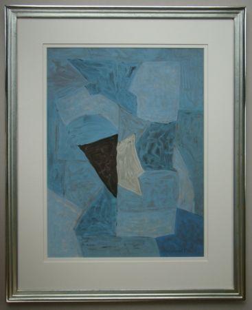 Литография Poliakoff - Composition bleue