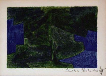 Литография Poliakoff - Composition bleue et verte n°41