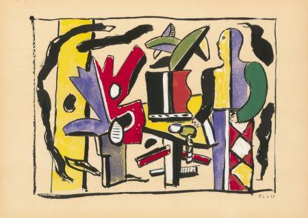 Трафарет Leger - COMPOSITION FEMME EN BLEU (1938) de l'album : Douze Contemporains par J. Lassaigne (1959)