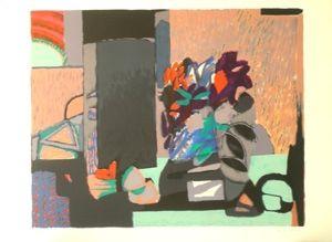 Литография Godard - Composition florale