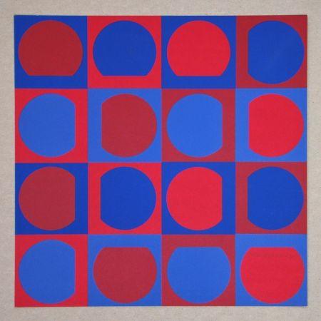 Сериграфия Vasarely - Composition Folklore Planétaire