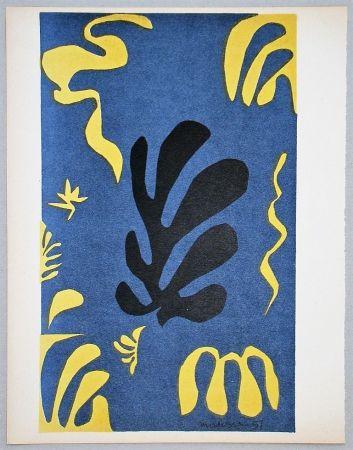 Литография Matisse - Composition fond bleu, 1951