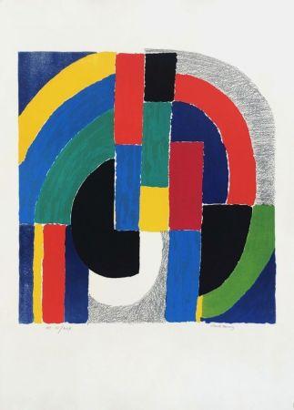 Литография Delaunay - Composition géométrique