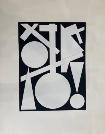 Сериграфия Herbin - Composition géométrique