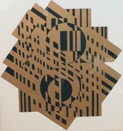 Литография Vasarely - Composition Géométrique