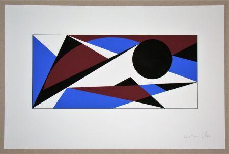 Сериграфия Claisse - Composition géométrique - sans titre