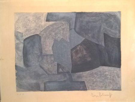 Литография Poliakoff - Composition grise n°59