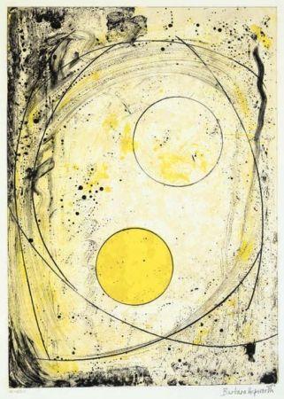 Литография Hepworth - Composition in black and Yellow