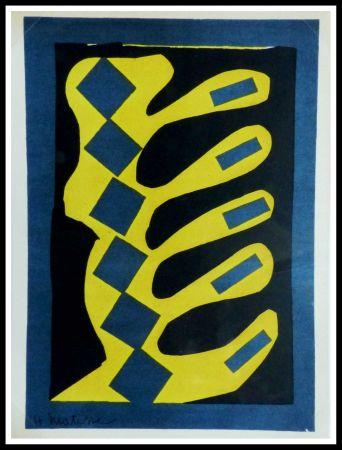 Литография Matisse - COMPOSITION  JAUNE BLEU ET NOIR