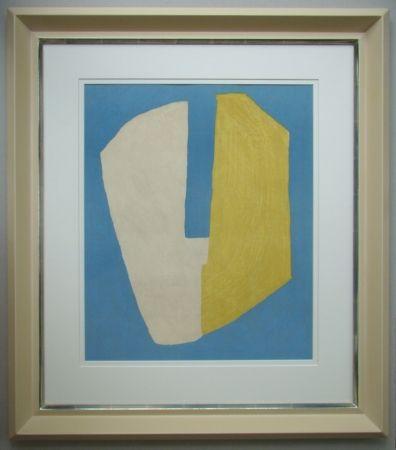 Литография Poliakoff - Composition jaune et bleue