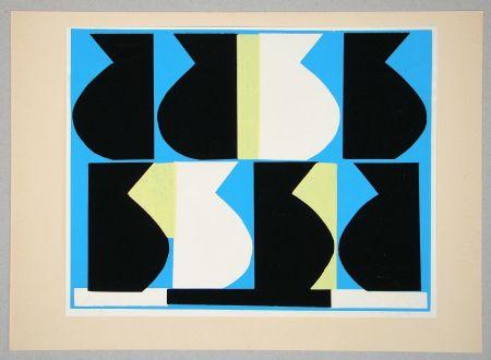 Сериграфия Delahaut - Composition pour Art Abstrait