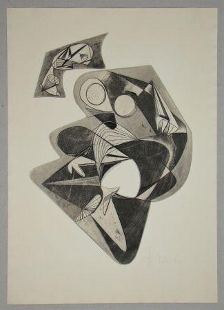 Офорт Mels - Composition pour Art Abstrait