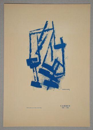 Литография Carrey - Composition pour Galerie Ariel