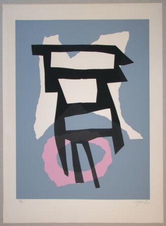 Сериграфия Jacobsen - Composition pour Le Fer et le Feu