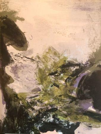 Литография Zao - Composition pour xx siècle