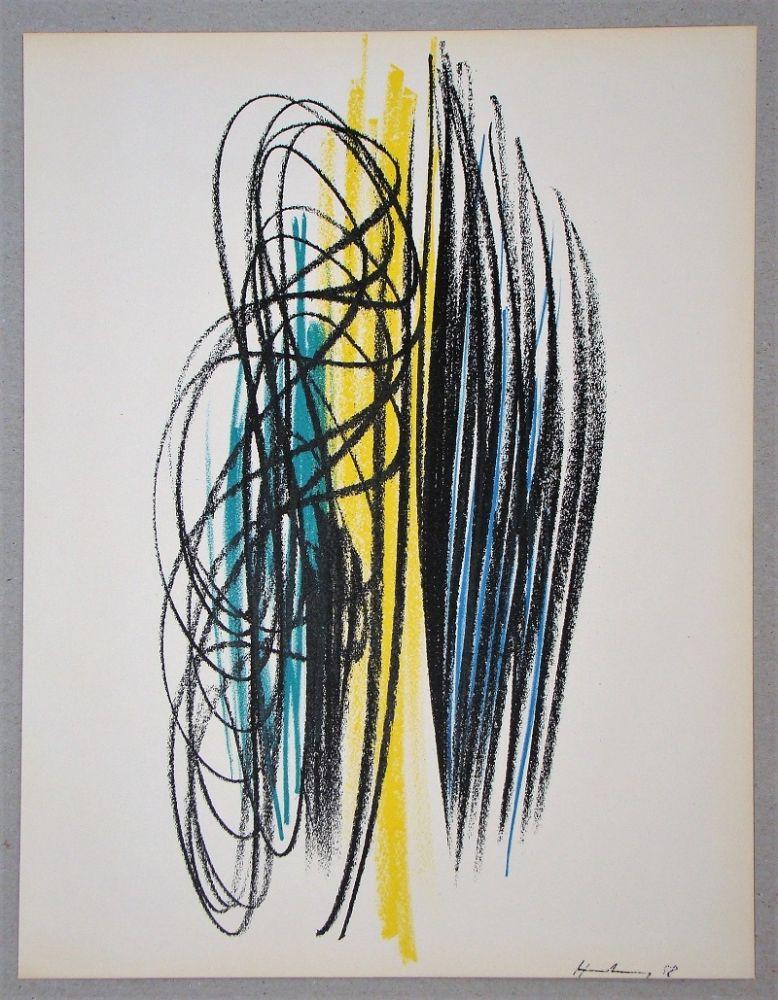 Литография Hartung - Composition pour XXe Siècle