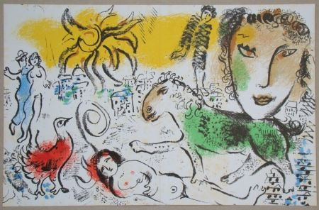 Литография Chagall - Composition pour XXe Siècle