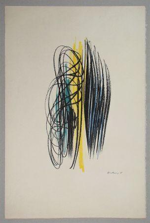 Литография Hartung - Composition pour XXe Siècle - 1958