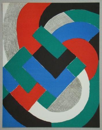 Литография Delaunay - Composition pour XXe Siècle, 1969
