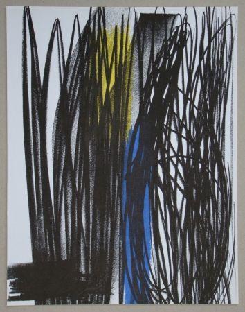 Литография Hartung - Composition pour XXe Siècle, 1973
