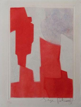 Офорт И Аквитанта Poliakoff - Composition rouge et bleue n°XX