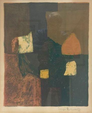 Литография Poliakoff - Composition rouge, verte et jaune n°7