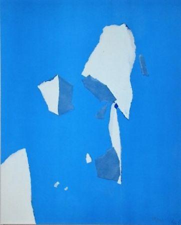 Трафарет De Stael - Composition sur fond bleu ciel
