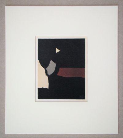 Литография De Stael - Composition sur fond noir