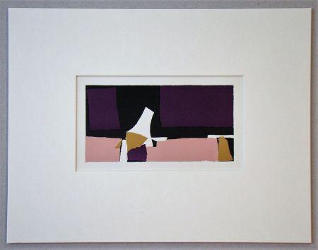 Литография De Stael - Composition Violette - 1952
